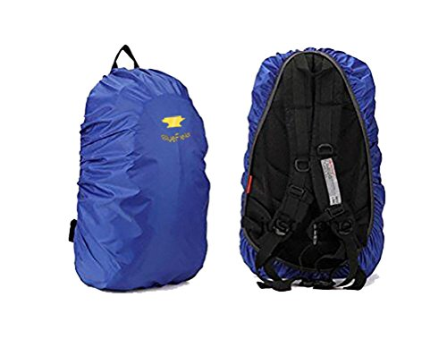 BlueField Outdoor Backpack Rain Cover Bag for Hiking Camping Water-resistant Color Blue Size L
