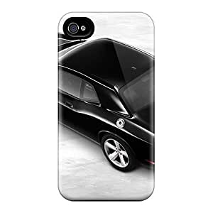 High Grade Saraumes Flexible Case For Iphone 4/4s - Dodge Challenger