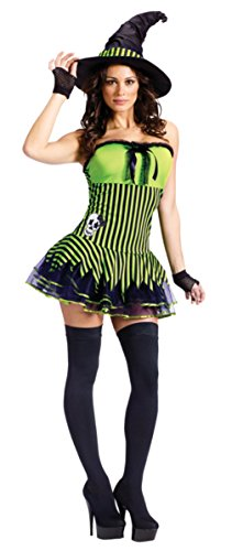 Funworld Womens Sexy Evil Rockin' Witch Theme Party Fancy Halloween Costume, S/M (2-8)