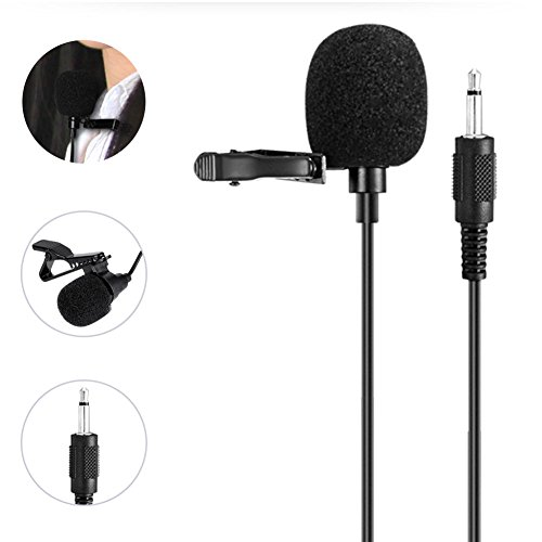 WinBridge Portable Collar clip Microphone 3.5mm Audio Compatible - Wireless Amp Cord