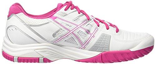 Femme Tennis Gel Blanc Rose de Challenger Chaussures Asics White 9 0119 dYwqURX
