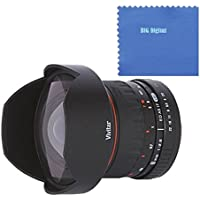 Vivitar 8mm f/3.5 HD Aspherical Fisheye Fixed Lens for Nikon D Series Digital SLR Cameras
