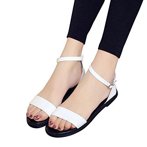 Sandalias, FAMILIZO Zapatos Verano Sandalias Mujeres Plana Moda Sandalias CóModas Zapatos De Damas Blanco