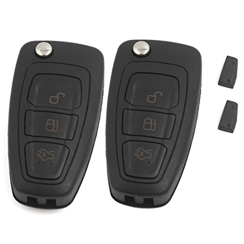 2 Flip Keyless Entry Remote Key 4D63 Chip 3 BTN for Ford Focus MK3 and T6 Ranger