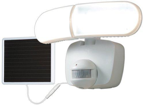 All Pro MST800LW Twin Head Solar Powered Floodlight, 70', White