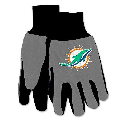 NFL Miami Dolphins Two-Tone Gloves, Orange/Green