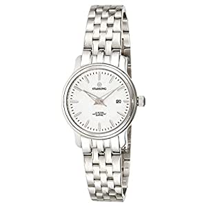 Starking Men's White Dial Stainless Steel Band Watch - BL0843SS11