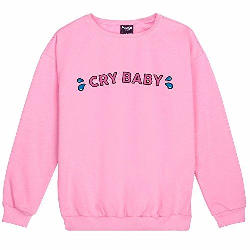 Minga London Cry Baby Sweater Top Sweatshirt Jumper Women's Pink Cute Goth - Cry Pink