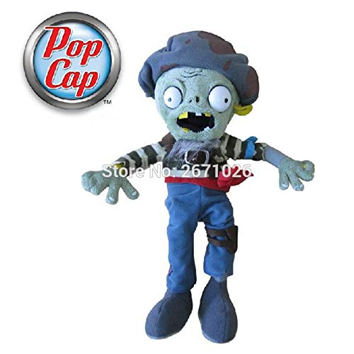 PKRISD 12'' 30Cm Cap Plant Vs Zombies 2 PVZ Flying Rope Zombie Character Soft Stuffed Plush Toy Dolls Must Have Toys Friendship Gifts Boys Favourite Characters Superhero Decorations Childhood Dream