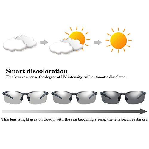 sexo descolorido de gafas sol Anti gafas de de UV400 sol conducción Marco la de los sol gafas para de sin la Hombre bastidor polarizadas TIANLIANG04 conductores Uv seguridad Frame gris masculino del Black qXFZZt