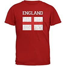 World Cup Distressed Flag England Red Adult T-Shirt