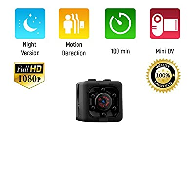 Mini Spy Hidden Nanny Camera, Portable, Full HD Video Recording, 1080P, Night vision, Motion Detection, Indoor and Outdoor Covert Security for Home and Office by DEEX