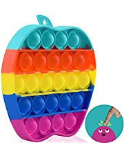 Rainbow Pop Bubble Fidget It Toys Pop Sensory Toys for Autism Needs Stress/Anxiety Relief, Silicone Squeeze Toy Education School Supplies
