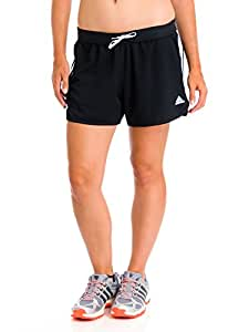 Adidas Women's Ultimate 3-Stripes Knit Short, Black/White, 2XLarge/L