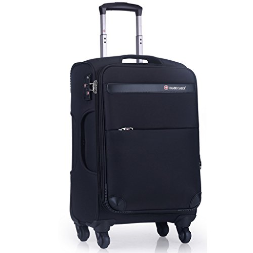 HWZQHJY Lightweight 4 Wheel Soft Case Suitcases, Suitcase 24