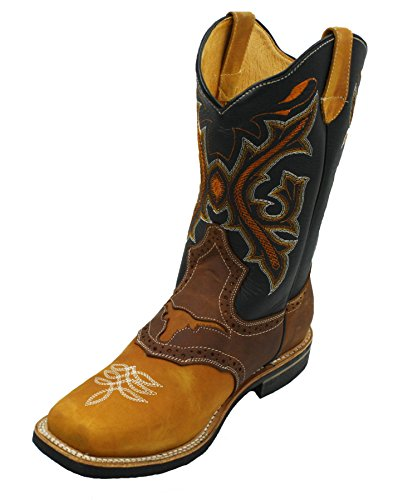 Pictures of Men Genuine Cowhide Leather Square Toe Western 454 db boots 3