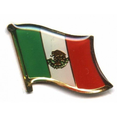 Backwoods Barnaby Mexico Flag Metal Collectible Olympics Hat/Backpack Pin - Broche De Bandera Mexicana (Mexican pin, 0.75