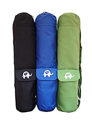 OM Yoga Mat Bags - Full Zipper Cargo Tote - with Shoulder Straps - 4 Pockets to hold your Cell Phones or Workout Essentials, 100 % Satisfaction Guaranteed by Elite Trend (New Arrival)