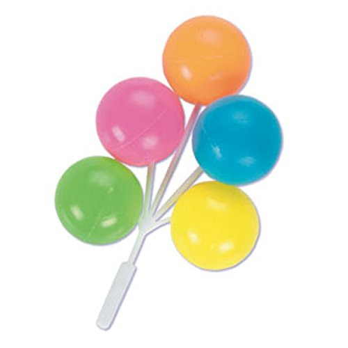 Oasis Supply Balloon Cluster for Cupcake/Cake, 5-Inch, Neon Color, Set of 4