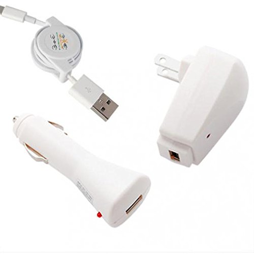 Amazon.com: 3-in-1 Home Car Charger Retractable USB Cable Travel ...