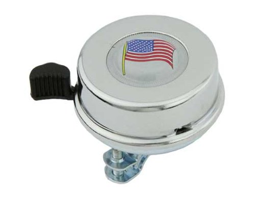 Beach Cruiser Lowrider American Flag Bicycle Bell Chrome Bikes Stretch Bicycles for Bicycle Bell limos Track Bike Bell Fixie