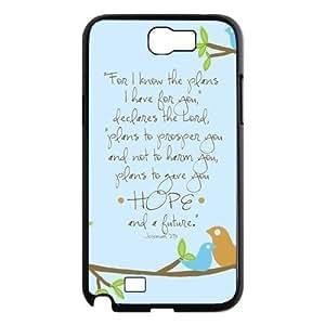 Custom Bible Verse Design Plastic Case for Samsung Galaxy Note 2