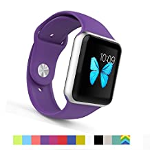 Apple Watch Bands - WantsMall S/M Soft Silicone Sport Style Replacement iWatch Strap for Apple Watch Models