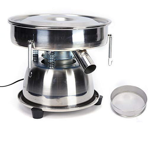 Flour Sifter Electric Sieve Shaker Vibrating Sieve Machine with 80 Fine Mesh Screen Stainless Steel for Powder Particle Bean 110V 50W US