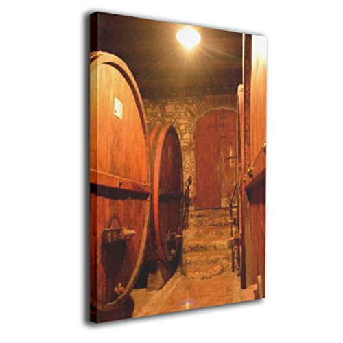 Baohuju Rows Of Wine Casks In Cellar Modern Oil Painting For Wall Decor Gallery Wrapped Giclee Wall Art On Canvas Ready To Hang 16