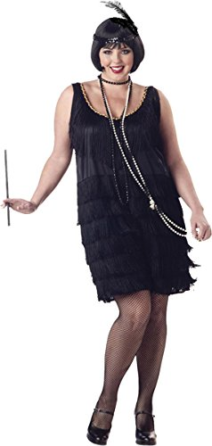 (California Costumes Women's Fashion Flapper Plus Size Costume, Black, 2XL)