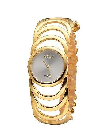 y g y mujer 2015 reloj pulsera con ventana en la parte reloj Casual para relojes de relojes