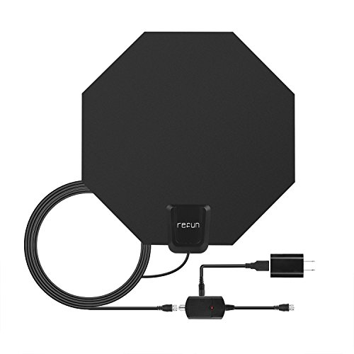 tv antenna indoor 50 100 miles refun hdtv antenna for digital tv with detachable amplifier. Black Bedroom Furniture Sets. Home Design Ideas