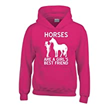 Edward Sinclair Horses are a Girls Best Friend Funny Horsey Riding Hoodie
