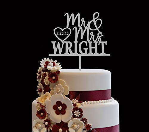 Personalized Wedding Cake Topper - Personalized Wedding Cake Topper, Wooden Cake