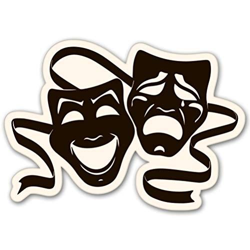 AK Wall Art Theater Masks Vinyl Sticker - Car Window Bumper Laptop - Select Size