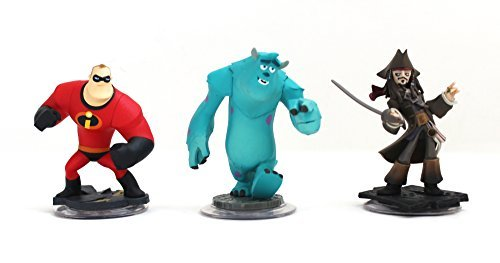 Disney Infinity Characters Jack Sparrow Mr Incredible, Monster Inc Sully Wii ()