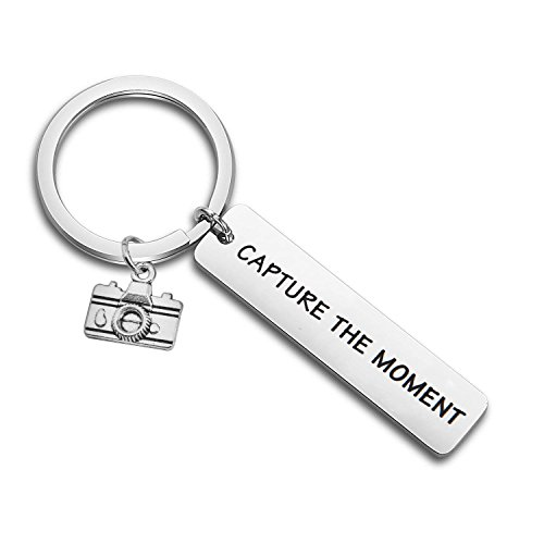 SEIRAA Capture The Moment Keychain Photographer Gift Camera Keychain Photography Jewelry BFF Gift (Capture The Moment Keychain)
