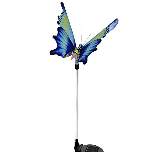 Solar Garden Lights - Solarmks Solar Lights Outdoor Multi-Color Changing LED Fiber Optic Butterfly Garden Stake Lights for Outdoor