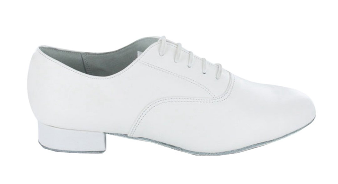 TDA Men's JF250509 Lace-up Comfort Standard Leather Ballroom Latin Dance Shoes B010RPF47G 6 D(M) US|White