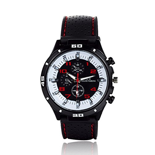 GT Furious Racing Sport Watch Military Pilot Aviator Army Style Black Silicone Faddish F1 Men's Watches