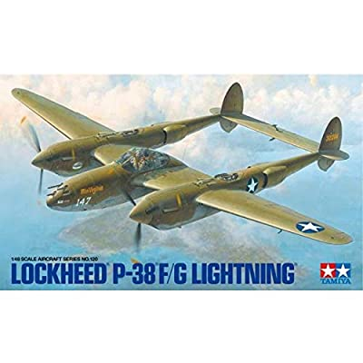 Tamiya USA TAM61120 1/48 Lockheed P-38 F/G Lightning: Toys & Games