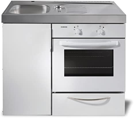 Single Mini Kitchen With Oven Kitchen Compact Kitchen Office Small Kitchen B100 Cm Amazon De