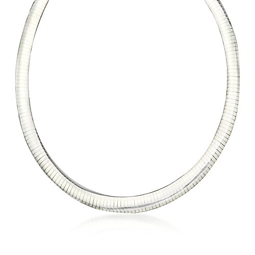 Ross-Simons Italian 8mm Sterling Silver Omega Necklace 8mm Omega Necklace Chain
