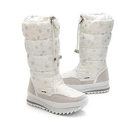 Amazon.com | Long Sleeve Plush Warm Winter Boots for Women