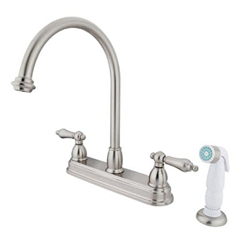 Chicago Faucets 2 Handle Side Sprayer Kitchen Faucet