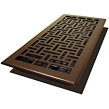 Decor Grates AJH614-RB Oriental Floor Register, 6-Inch by 14-Inch, Rubbed Bronze