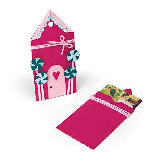 Sizzix 662451 Bigz, Gingerbread Gift Card Holder By Jen Long Die, Multicolor
