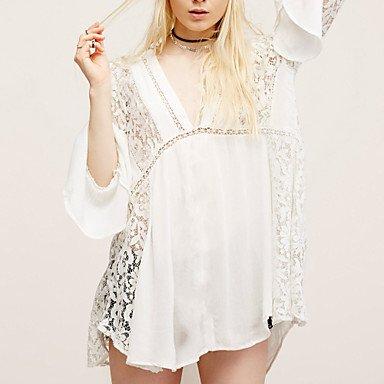 HHBO De las mujeres Tapadera-Color ¨²nicoBandeau-Raso , white , one-size White