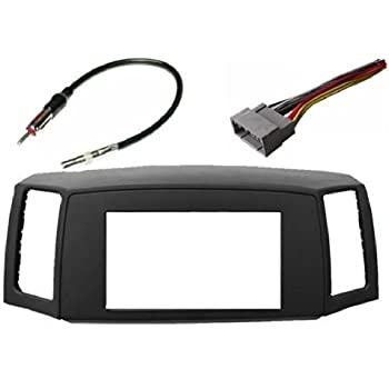 411vvc9cNAL._SL500_AC_SS350_ amazon com double din navigation radio bezel dash install kit 2005 jeep grand cherokee radio wiring harness at gsmx.co