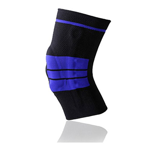 Silicone Anti-collision Compression Knee Brace - WinCret Knitted Protective Elastic Breathable Comfortable Knee Sleeve Athletic Knee Support Fit for Running, Climbing, Riding, Basketball and so - Wristband Reviews Silicone